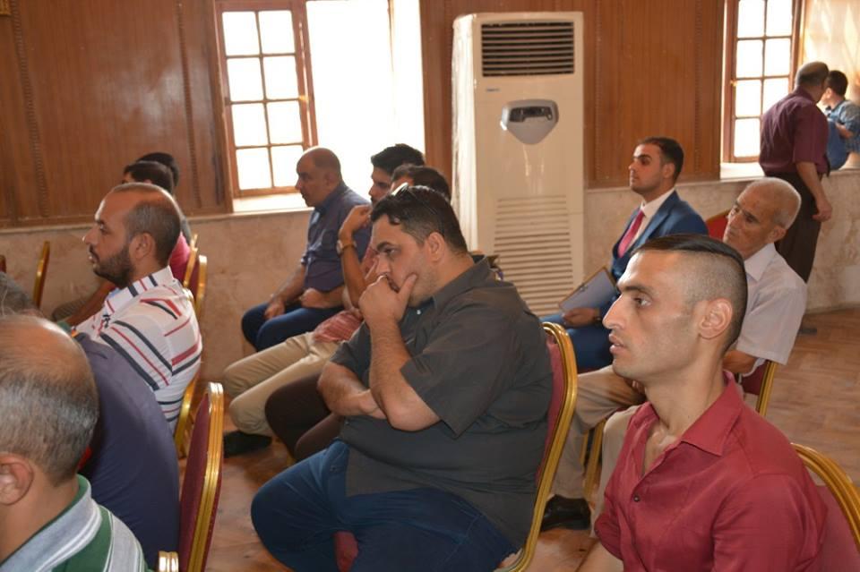 """الاستاذ الفاضل الزيدي يلقي محاضرة بعنوان """""""