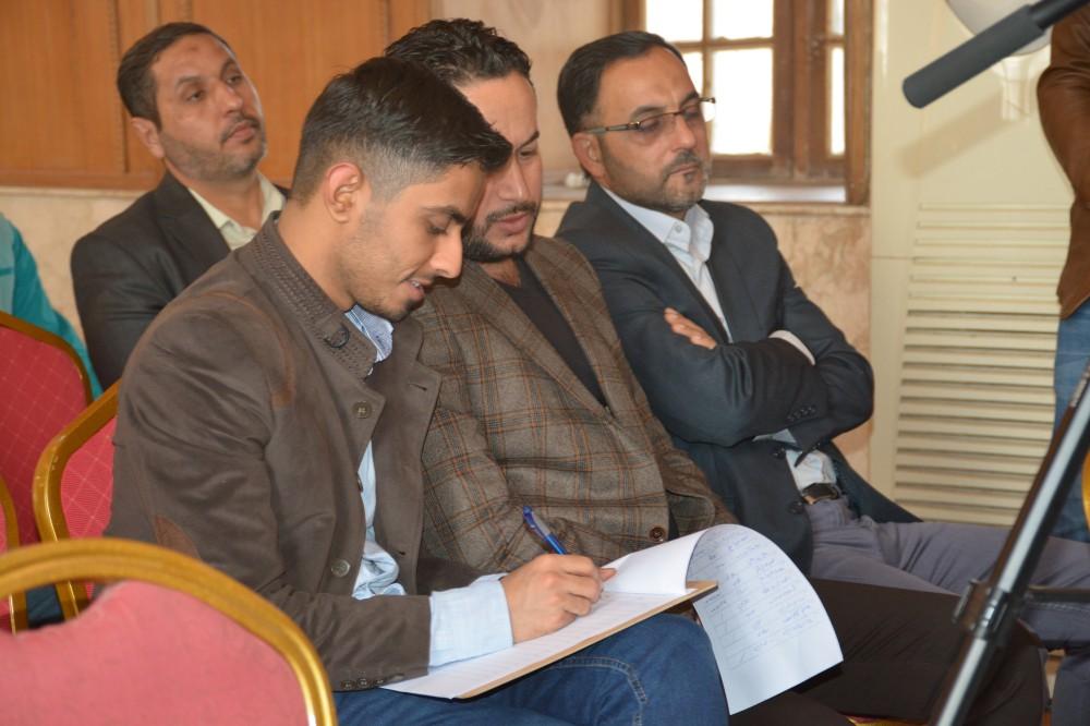 """الاستاذ احمد الشرع يلقي محاضرة بعنوان """""""